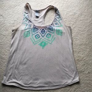 Tops - Aztec print tank top